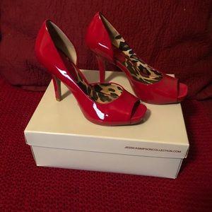 Jessica Simpson Josette/Really Red Patent Heels